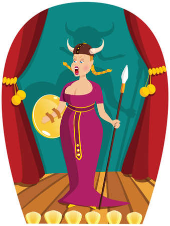 An image of an opera singer performing on stage.