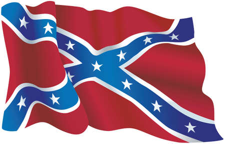 A vector illustration of the U.S. Confederate flag.