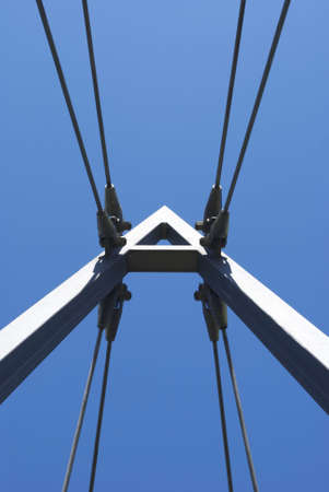 free stock: Royalty Free Stock Image of Suspension of bridge forming the letter A