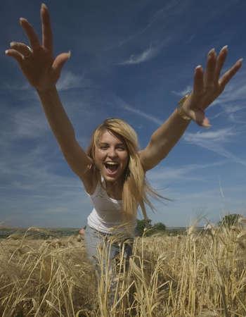 beautiful girl in the wheat field