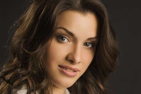 hermosa niña con expresión positiva en tiroteo de estudio  Foto de archivo - 7634984