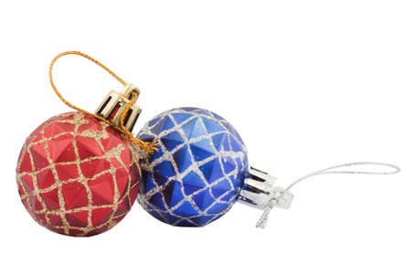 red and blue decoration toys for christmas tree