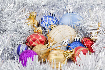 collections of the colored christmas toys Stock Photo