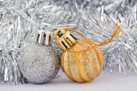 silver and golden decoration toy for christmas tree