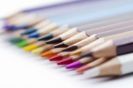 colored pencils on white background Stock Photo - 13608065