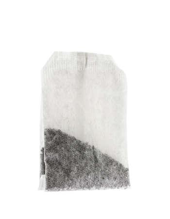 bolsita: Bolsita de t� de papel aislado en el fondo blanco Foto de archivo