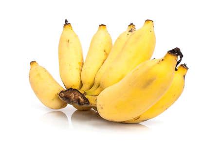 bunch of banana isolated on white background photo
