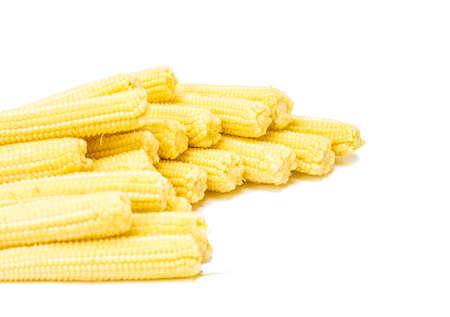baby corn: Baby corn isolated on white background