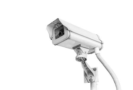 cctv camera isolated on white background with clipping path Stock Photo