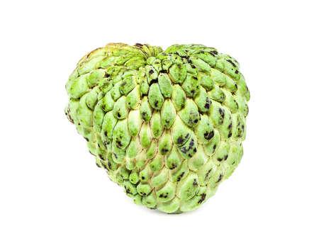 chirimoya: green custard apple, asian fruit isolated on white background
