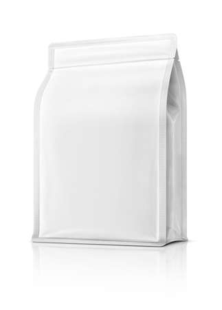 blank packaging pouch ready for product design, isolated on white background with clipping path