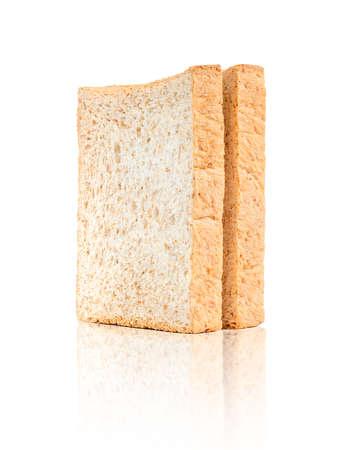 whole wheat: Bread, whole wheat slice isolated on white background