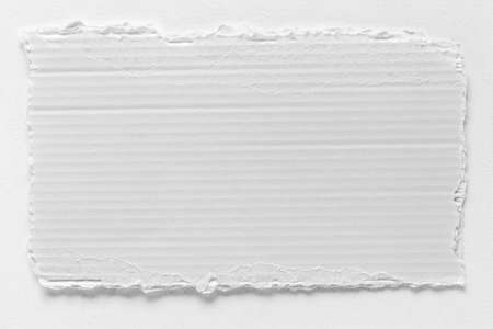 rend: Piece of white cardboard tear texture, blank sign board Stock Photo