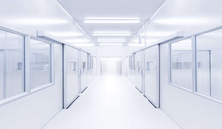 modern interior science lab, hospital background, factory background