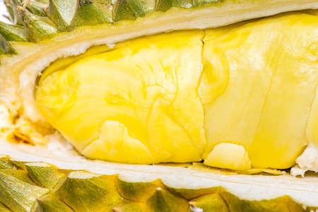 Durian Mon Thong the most popular thai fruit in closeup shot Stock Photo