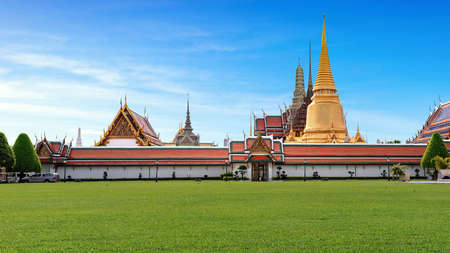 Wat Phra Kaew Temple of the Emerald Buddha and officially as Wat Phra Si Rattana Satsadaram is regarded as the most sacred Buddhist landmark temple in Thailand.