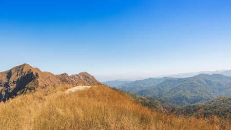 beautiful mountainside at Thong Pha Phum National Park Kanchanaburi Thailand name Khao Chang Phuak is the most popular for adventurist and trekker or hikers, travelling in amazing nature