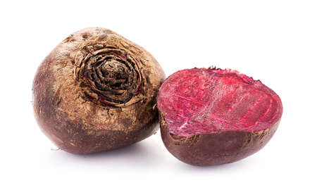 Fresh natural beetroots a higher vitamin organic nutrient food isolated on white background