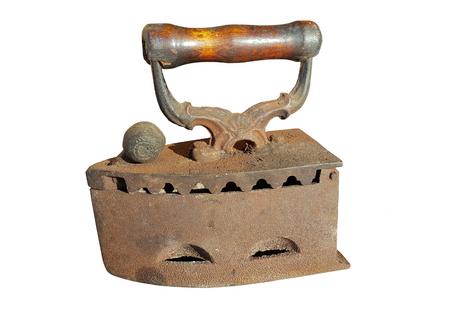 Old iron on white Stock Photo