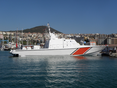 Picture of patrol boat in the port