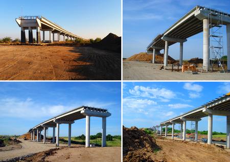Set of bridge under construction