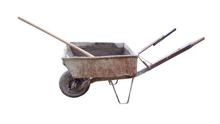 Wheelbarrow for concrete