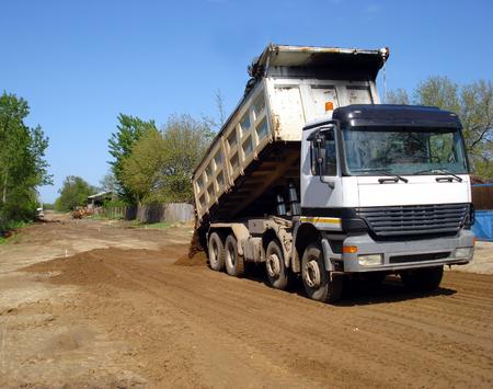 Truck dumper Stock Photo