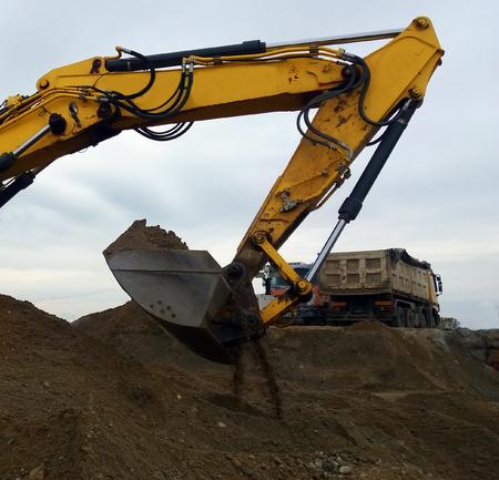 Truck and excavator Stock Photo - 99152353