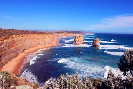 coastal erosion: 12 apostles Victoria Australia Stock Photo