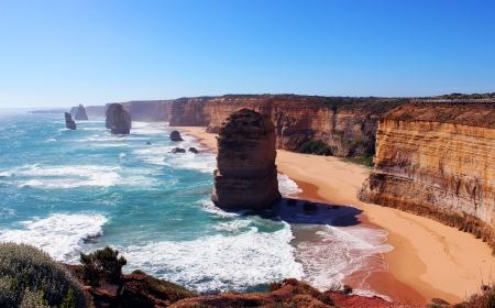 eroded: 12 apostles Victoria Australia Stock Photo