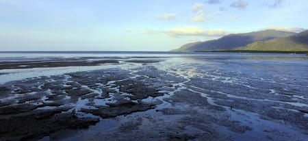 cairns: Cairns Beach Low Tide Stock Photo