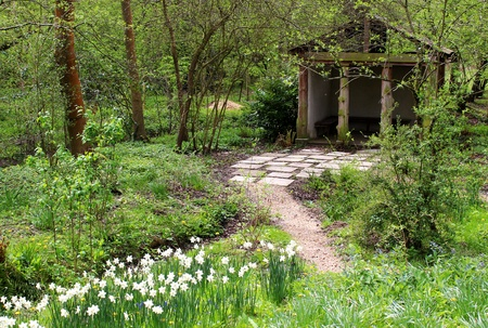 path to garden house photo