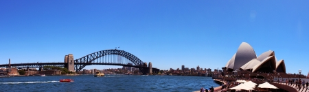 sydney harbour bridge: Sydney Harbour Panoramic View Editorial