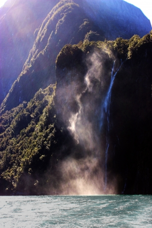 Milford Sound Waterfall photo