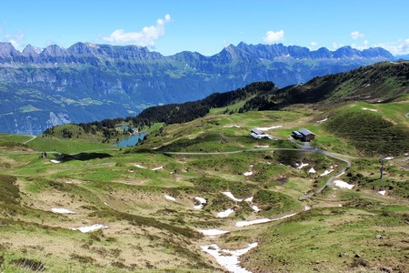 alluvial: Swiss Mountains Stock Photo