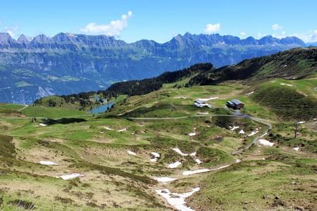 subjective: Swiss Mountains Stock Photo