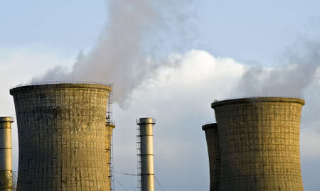 Cooling Towers at an electricity generating station Stock Photo - 2682432