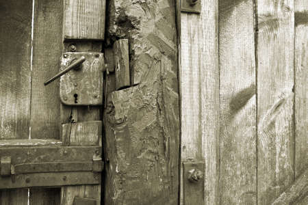 oxidize: Close-up of an ancient and rusty door (vintage)