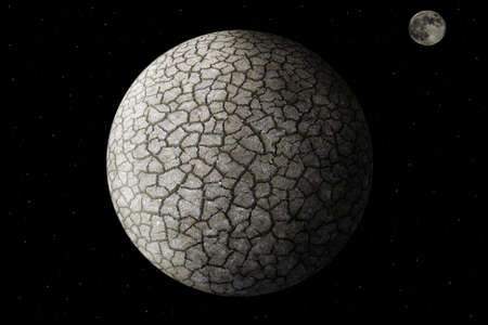 devastated: Planet Earth devastated by global warming Stock Photo