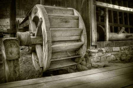 Antique waterwheel in a romanian village Stock Photo - 3138113