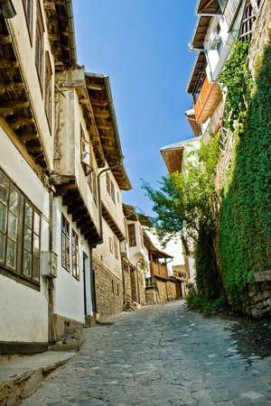 veliko: Street in Veliko Tarnovo, medieval town in Bulgaria