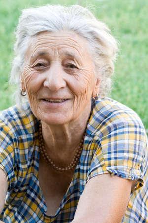 Portrait of happy senior woman Stock Photo - 3558941