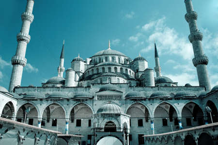 hagia sophia: Fantastic view of Hagia Sophia mosque in Istanbul, Turkey