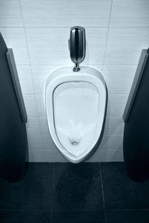 urinal: Nice and clean urinal in mens public restroom
