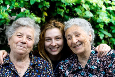 Family - young woman with two senior ladies Stock Photo - 3759581