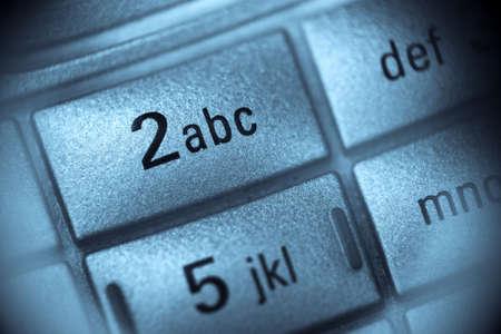 Macro view of mobile phone keypad photo
