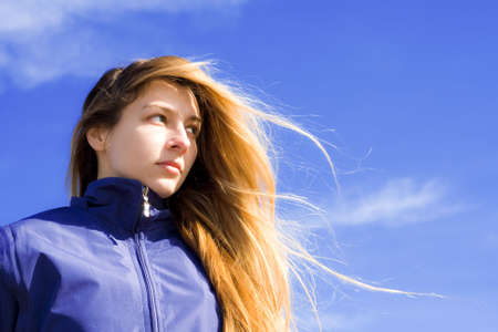 Portrait of confident and ambitous young woman Stock Photo