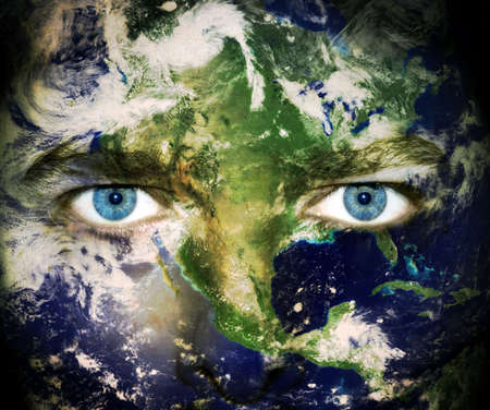 painted image: Environment concept: Eyes of planet Earth