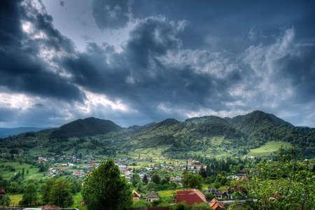 Panoramic view of rural romanian region Stock Photo - 3842424
