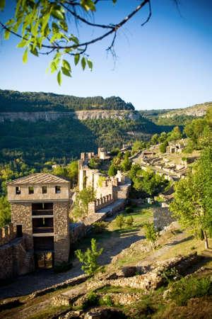 veliko: View of medieval fortress in Veliko Tarnovo, Bulgaria